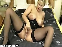 big-tits blonde mammy masturbation milf pussy squirting stocking webcam