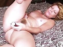 blonde dildo housewife masturbation mature playing solo toys wife