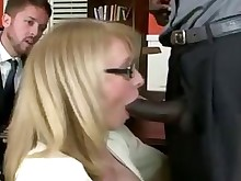 black blonde bus cougar fuck interracial office stocking