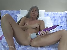 ass dildo glasses small-tits little masturbation mature milf natural