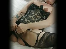 amateur babe brunette fetish kinky kitty lingerie masturbation milf