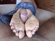 amateur cum cumshot feet fetish foot-fetish footjob innocent masturbation