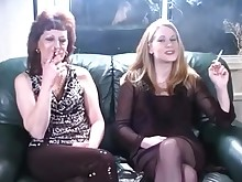 daughter lesbian mammy mature smoking