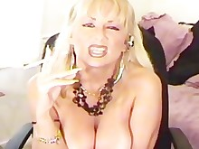 blonde fetish milf smoking