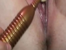 amateur close-up masturbation playing shaved vibrator wife